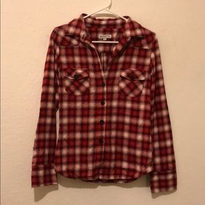 Red and white Plaid Flannel